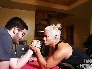 Tanya Hyde Armwrestling And Flexing