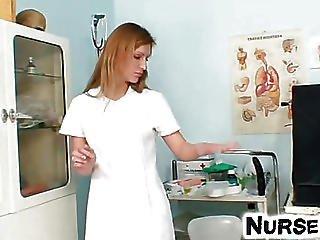 фаллоимитатор, игры, мастурбация, медсестра, киска, секс, соло, зеркало, игрушки, форма