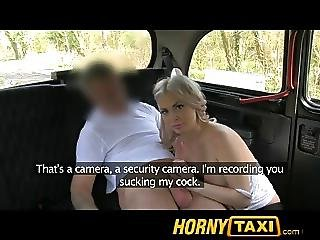 Hornytaxi Hot Blonde Tourist In First Time Blowjob