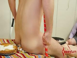 Assfucked In Analand -- With Buttplug Archer And A Buttpie Eating Contest