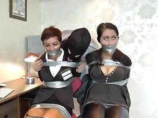 Can suggest Bound and gagged sex videos