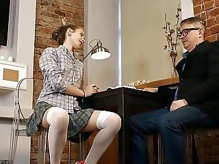 Stp3 Tutor Gives Skinny Schoolgirl A Nice Deep Creampie