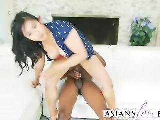 Mia Li Gets Pussy Licked And Ass Banged By Black Dong