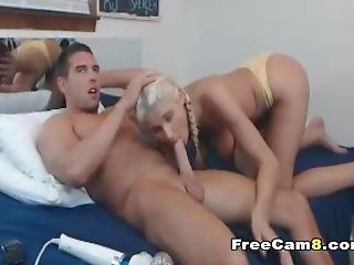 Russian Blonde Teen Playing Her Boyfriends Big Dick