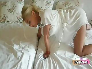 Mom's Hand Is Stuck - Stepson Benefits And Fucks Mom