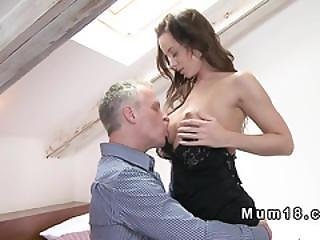 Busty Brunette Mature Dressing Lingerie