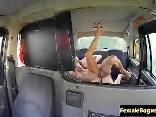 Lady Cabbie Beauty Doggystyled On Backseat