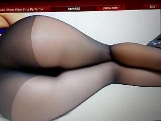 Big Booty Girl With Black Pantyhose