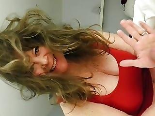 Busty Nympho Wife Spanks My Cock During Blowjob