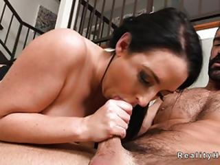 Brunette Huge Tits And Pussy Banged