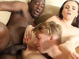 Cuckold Hubby Enjoys Wife Joanna Black Getting Her Ass Reamed By A Bbc