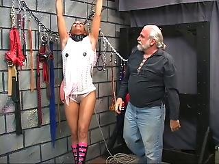 Cute Young Black Bdsm Babe Gets Restrained In Master Len S Basement Dungeon