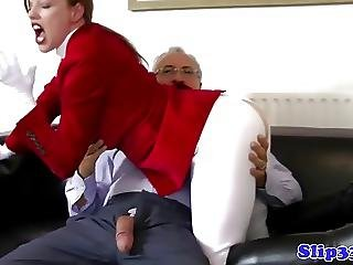 Classy Amateur Teasing His Old Cock
