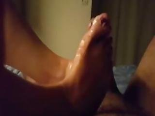 Amateur Girlfriend Giving Her Man A Nice Pov Footjob