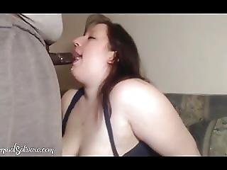 Bbw Slut Gives Sloppy Head With Facial