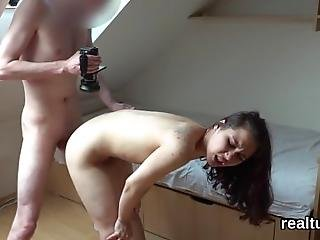 Wicked Sex Kitten Promenading Through The Mall Gets Teased And Shagged In Pov Producing Her First Home Porn Tape