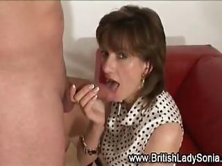 British Skank Gets Cumshot