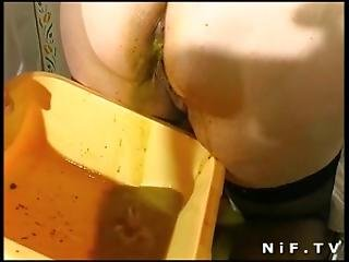 Obese French Mature Anal Fisted Sodomized And Facialized