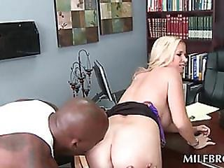 Hot Milf Stripped And Fucked On Her Desk