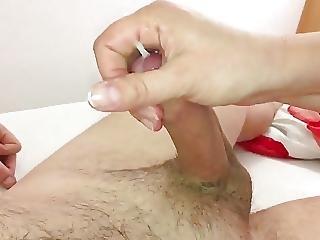 Wife Jearking My Cock