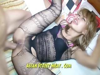 Beauiful Blond Asian Pleading Fuck My Ass