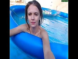 Very Cute Teen Fucked In Pool