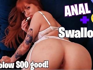 She Swallow Everydrop Of Cum! Blowjob And Anal With That Redhead Ass!