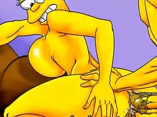 Desperado Homewife Marge Simpson Like To Cheat With Neighbors And To Masturbate With Dildo When She Is One At Home Marge Simpson Like Blowjob And Anal Penetrations Too