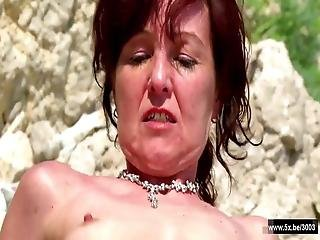 Joyce A French Mom Takes Anal Outdoor