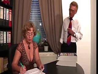 German Boss And Mature Secretary