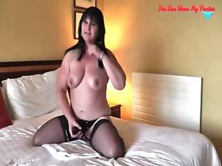 Dirty British Wife Strapon And Cum Covered