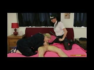 Policewoman Lena Frank Caught Cayenne Klein In A Blowjob