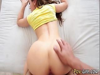 Fucked Pov Teen Cum Spray