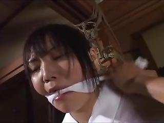 Japanese Cute Girl Bound And Gaged