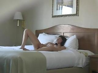 Filming Girl In Hotel Room - Home Made - White Girl Masturbating On Bed