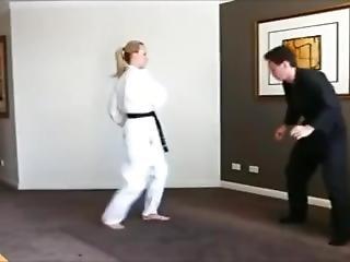 Sexy Girl Kicking