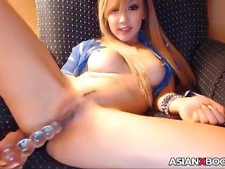 Sexy Asian Babe Toys Her Cunt