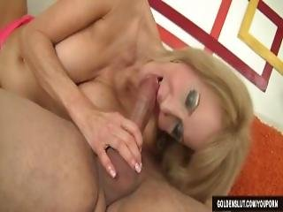 Sexy Grandma Erica Lauren Seduces A Boy