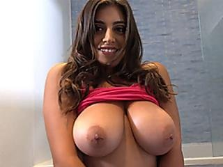 My Huge Tits Stepsister Titty Fucked Me After My Shower