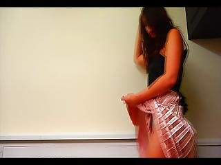 Fan Blowing Up Her Skirt Drooled & Smell Very Exciter