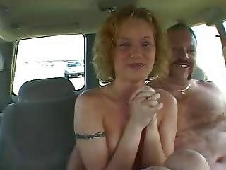 blonde backseat cumshot