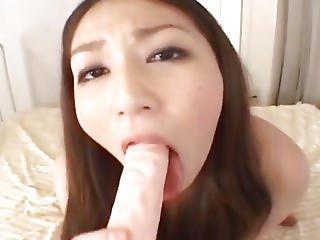 Mai Miyama Sucks Dildo And Gets Doggy Fuck
