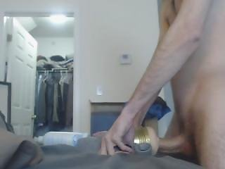Huge Dick Enjoying Fucking Fleshlight For Mins
