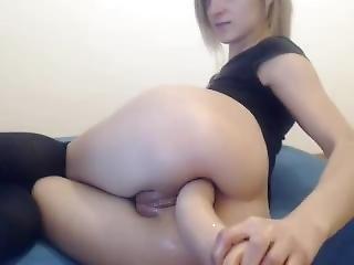 The Ass Eats Greedily A Huge Cock