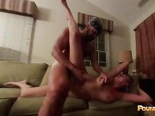 Scissor Fucked & Choked Out On Your Moms Couch