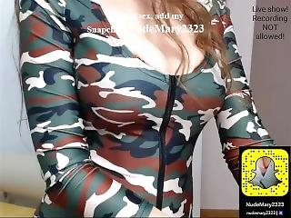 Sexy Blonde With Nice Silicone Breast