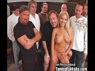Jasmine Tame Semen Splatter Gangbang Bukkake