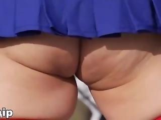Shimakaze Cosplayer Upskirt