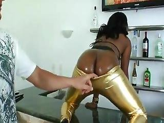 Diamond Exhibits Off Her Huge Cocoa Anal And Receives The  Onto The White Penis