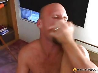 Bald Guy Fucks His Aunt On The Table